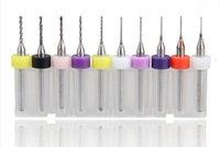 Wholesale 10pcs PCB Micro Drill bit set CNC Mini Solid Carbide Drill bit mm to mm Dremel Jewelry Work Tools