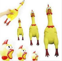 Wholesale Shrilling Rubber Chicken Jokes Toys Dog Pet Screaming Chicken for Children Party Gadgets Gifts Sound Squeeze Screaming Toys