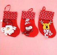 Wholesale Explosion models Decoration Christmas stocking Christmas scene cartoon Christmas stockings Christmas stockings mini red and green