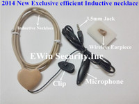 Wholesale Promotions A680 wireless invisible Spy earpiece with exclusive efficient mm Jack Inductive necklace battery as a gift