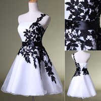 Cheap Cheap Under $50 In Stock SD118 2014 Black and White Lace Homecoming Short Prom Dresses Ball Gowns Graduation Dress Celebrity Cute Sexy Party