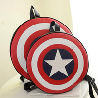 Wholesale Superhero Avengers Captain America Fashion Backpack Shoulder Bag Cosplay Costume Accessory Props Gift Kids Girl Laptop Backpacks