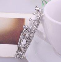Wholesale Royal Wedding Crown Tiara Crystal Rhinestone Bangle Bracelets K Gold Plated Platinum Plated Women Fashion Jewelry BB010