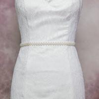 Wholesale S34 NEW Low price Women s Fashion Beaded Accessories Bride Wedding Dress Belt Exquisite Handmade Jewelry Designer Belts