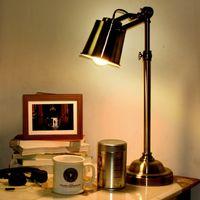 art libraries - Loft Flexible Bronze Vintage Library Table Lamp Bedside Desk Light Home Shade Lighting Office Reading Table Lights
