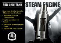 air engine design - Original Wotofo Steam Engine Tank ML Sub Ohm TC Atomizer Top and Bottom Filling Design Liquid and Air Flow Contro vs smok TFV4l