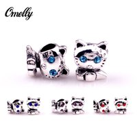 Wholesale Cute Cats Ale Pandora Charms Silver Filled Loose Beads diy Jewelry for Pandora Bracelet Whlesale