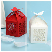 Wholesale Korea Diy Box - Wholesale Hollow Wedding Suppliers Favor Boxes White Red Wedding Candy Boxes Gift Box DIY Chocolate Package Favor Holders 2016 Korea Fashion