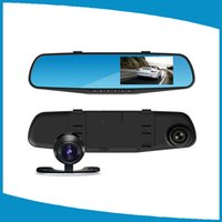 Wholesale Rearview Mirror Car DVR Driving Recorder Inch Single Double Cameras HD Blue Infrared Night Vision Motion Detection Wide Angle