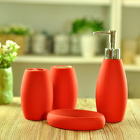 Wholesale Bathroom Set High Quality Certamic Bathroom Bath Hardware Set Soap dispenser soap dish toothbrush cup and holder T