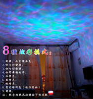 Wholesale LED Night Light Projector Ocean Daren Waves Projector Colorful Waves Projector Colorful Waves Multifunction Night Lights Lamp With Speaker