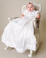 baby dedication - Gorgeous newborn Dedication gown baby dress Robe Bapteme christening gowns with Bonnet