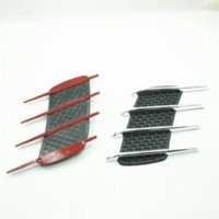 Wholesale car styling chrome air flow intake fender mesh side vent grille plating side cover badge M5271