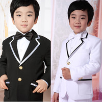 Wholesale Two Buttons Tuxedos Attractive Kid Complete Designer Notch Lapel Boy Wedding Suit Boys Attire Custom made Jacket Pants Tie Vest