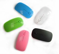 Wholesale Portable Mini Ultra Thin Slim Wireless Mouse Optical for PC Laptop Computer Macbook USB Receiver Adapter Bluetooth AAA Battery Retail Box Q2