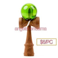 Wholesale 1pc cherry wood and Transparent ball more color kendama and kendama pill and kendama doll