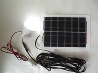Wholesale High quality set polycrystalline W solar panel W LED energy saving light bulbs used for V photovoltaic power home system