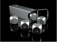 Wholesale 1 CM Portable Aluminum Dice Creative Leisure Gambling Dice Six Side Drinking Dice