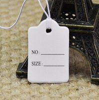 Wholesale in stock simple art paper NO and size printing in apparel hang tag normal for garment hat jewelry tag with white string pc