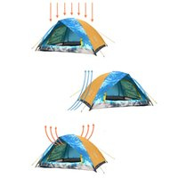 Wholesale 2 People Double Layer Rainproof Camping Tent Outdoor Hiking BBQ Gathering Beach Tent with Portable Bag Y1153