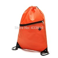 drawstring shoe bag - Nylon Storage Bag for Shoes and Clothing with Drawstring Closure Navy Blue Orange Color Storage Bags for Shoes