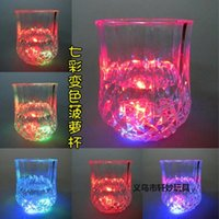 Wholesale 100pcs High Quality Christmas LED Flashing Bottle Coaster Sticker For Drinks Glasses For Night Club And Bars Beer Party Decoratio