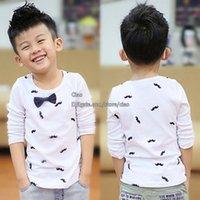 Wholesale White T Shirts Spring Cotton Shirts Boys Shirt Korean Buy Shirts Children T Shirts Long Sleeve T Shirt Children Clothes Kids Clothing L44087