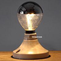 astral lamp - Astral lamp bubble Reflective silver ordinary incandescent bulbs E14 E27 mercury shadow ball bubble decoration lamp