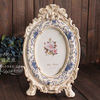 Cheap Wholesale-FBH031122 Europe type restoring ancient do old blue creative products exported to South Korea sitting room photo frame