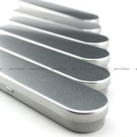 Wholesale-6pcs Hierro Metal Case lápiz de la pluma portátil Cajas Tin titular de contenedores Caja de almacenamiento