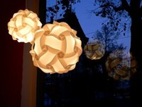 Wholesale Contemporary Ceiling Pendant Modern IQ Jigsaw Bedroom Hanging Lamp Light Shade