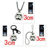 Wholesale 2015 New Star Wars Figures Toy Star Wars Key Chain Alloy Star Wars Necklace Mobile Phone Chain Star Wars Accessories Kids Toys