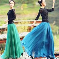 Wholesale New Arrival Long Skirt Beach Chiffon Bohemian skirts womens Maxi Skirt