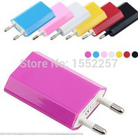 Wholesale High quality EU Charger EU Plug Power Adapter AC Wall Charger USB Output for Apple iPhone Samsung S5 Cell Phone