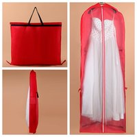 wedding dress garment bag - 180cm cheap bride dress bags clothes covers garment dustproof bags Cheap Bridal Wedding Dress Cover Gown Garment Dust cover