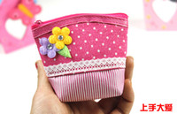 art print bag - 2016 NEW CUTE child coin purse cartoon wallet bag girl dot Cloth art Zero wallet for girl ZX151