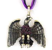 eagle pendant - European and American necklace vintage jewelry necklace dripping hot eagle alloy pendant