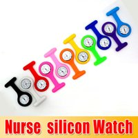 Wholesale Factory Price Popular design Silicone Nurse Medical silicon Watch brooch clip pocket Watches With Pin colors Doctor Watch sexy girls