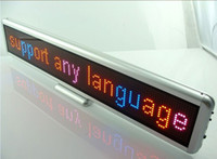 Wholesale Red Blue and Pink Thri Color indoor LED mini display LED Electronic Scrolling Sign display board in Global Languages rechargeable cm