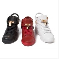 Wholesale buscemi sneakers brand high imitation full leather locks shoes men high shoes buckle