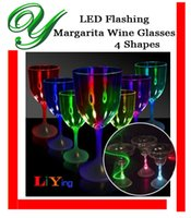 flashing light up glasses - Led cup flashing wine drinking glasses bar drinkware light up party accessories unbreakable blinking cocktail Margarita champagne glasses