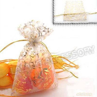 Wholesale 300pcs Whtie Moon Star Organza Gift Pouch Bags Fit Gift Packing x12cm