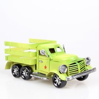 bar business model - iron car model in the vintage car trucks bar decoration Wrought iron crafts gifts business gifts Christmas gifts