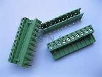 Wholesale 120 mm Angle pin Screw Terminal Block Connector Pluggable Type Green