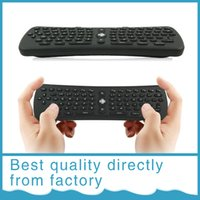 Wholesale T6 Wireless Keyboard T6 Mini Air Mouse Ghz Gyroscope Remote Control Combo for Android TV Box Media Player PC Free DHL