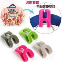 Wholesale Hot sale hot Travel Flocking Multifunction Pile Coating Colors Magic Hook Hanging Mini Hooks for clothing