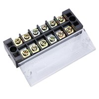 Wholesale Dual Position A V Screw Terminal Strip Covered Barrier Block