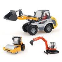 alloy engineering - Alloy engineering car gift box set toy car model of road roller excavator forkfuls