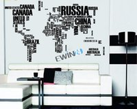 Wholesale New and High quality cm English Aphabet World Map Wall Decal Sticker For Home Office sets
