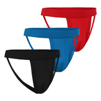 Cheap 3pcs lot Sexy thongs and g strings mens Hollow Out Strap Thongs Briefs jockstrap gay men underwear